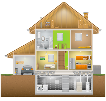 Home Inspection Cutaway Home